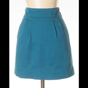 Silence and noise turquoise mini skirt, 0